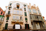 Majorca Placa Plaza Marques de Palmer modernist building poster