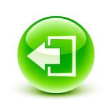 icône sortie déconnexion / disconnect icon poster
