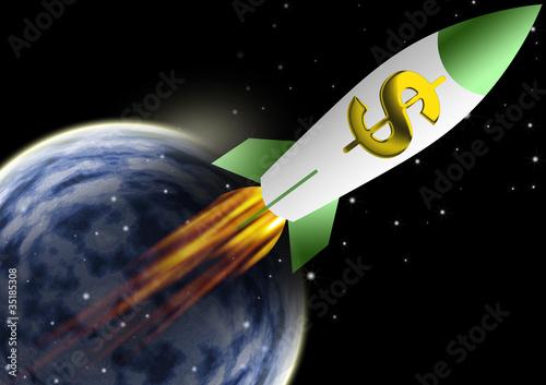 Foto op Aluminium Kosmos Spaceship rocket trave