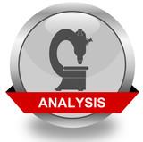 Analysis icon poster