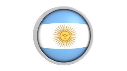 Argentinian flag with circular frame