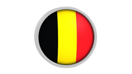 Belgian flag with circular frame