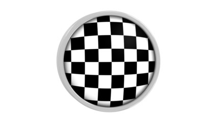Checkered flag with circular frame