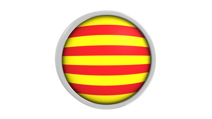 Catalonian flag with circular frame