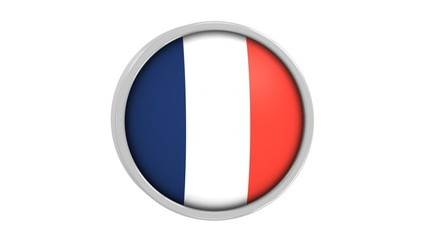 French flag with circular frame