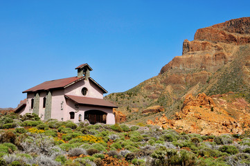 Shrine of Virgen de Las Nieves in Teide National Park, Spain