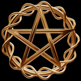 Golden pentagram