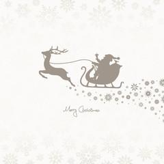 Christmas Sleigh & Snowflake Ornament Taupe
