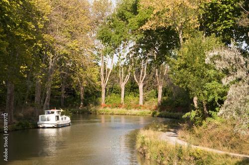 In de dag Kanaal Croisière sur le canal du midi - France