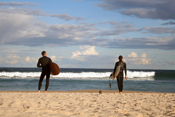 Surfer am Bondi Beach in Sydney