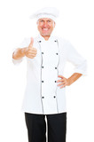 prosperous chef showing thumbs up poster