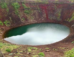 cráter de volcán