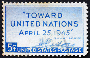 Postage stamp USA 1945 United Nations Conference, San Francisco