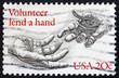 Postage stamp USA 1983 Volunteer lend a hand