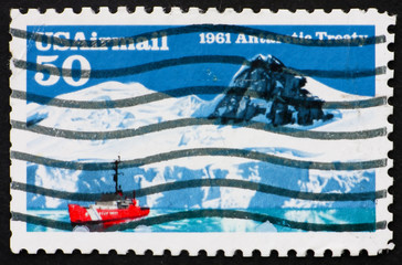 Postage stamp USA 1991 Antarctic treaty