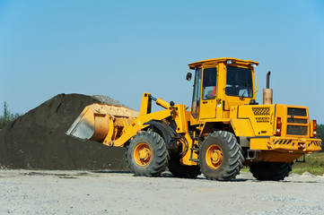 heavy construction loader