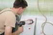 Plumber using silicone cartridge