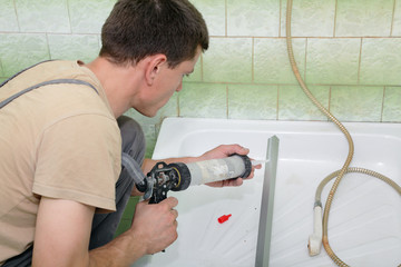 Plumber using silicone cartridge