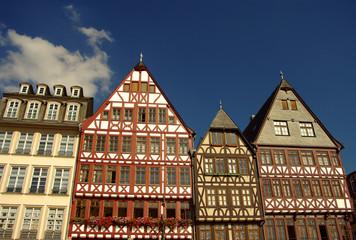 fachwerk houses at römerberg in Frankfurt