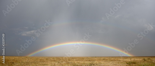 Rainbow at the Serengeti National Park, Tanzania, Africa