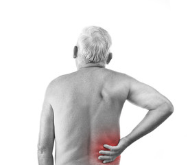 man with back pain