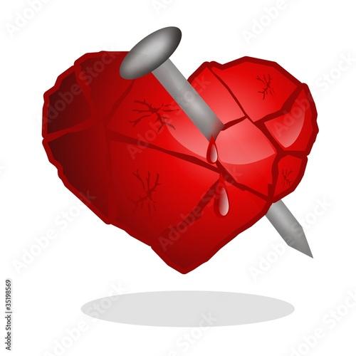 cuore inchiodato