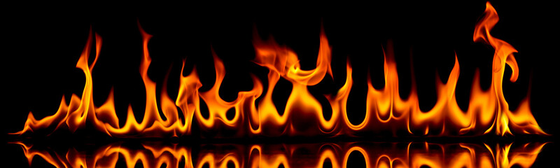 Fire and flames.