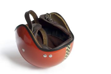 70er Jahre Motorrad Helm