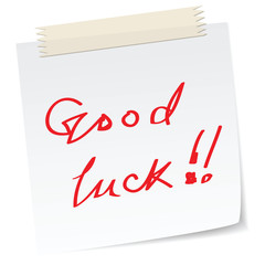 a good luck note