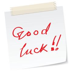a good luck note