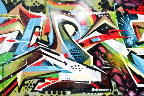 Abstruct Graffiti Fragment