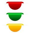 Coloured tabs, vector illustration