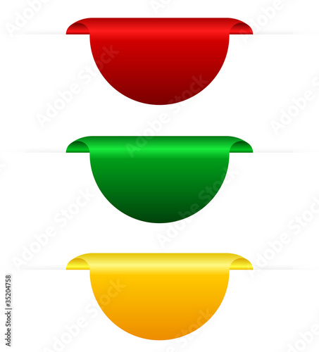 Coloured tabs, vector illustration