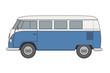 Bus Blau-weiß