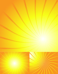 Bright Yellow Retro Sunburst Background