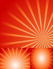 Isolated Creative Red Sunburst Background