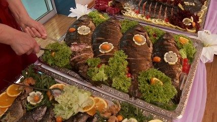 Fisch Buffet mit Bedienung