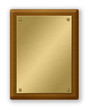 Gold And Wood Plaque