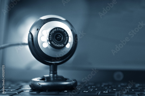 Webcam and laptop
