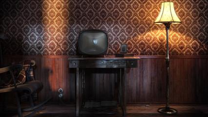vintage tv evening