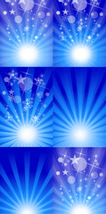 Stylish Decorative Sparkle Background Set