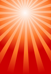 Stylish Red Sunburst Background