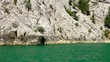 A view into the canyon in the Taurus mountains from riding boat
