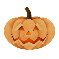 Halloween pumpkin recycled papercraft background