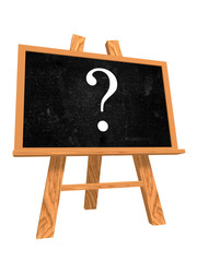 blackboard with question sign