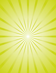 Bright Green Sunburst Background