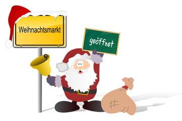 Weihnachtsmarkt geöffnet