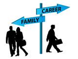 Family versus career poster