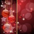 Sfondo natalizio - Red Christmas background