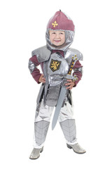 Adorable Little Boy dressed as a knight